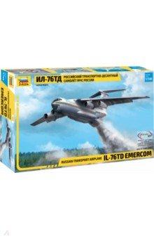 Купить Российский транспортно-десантный самолет Ил-76 ТД МЧС России (7029), Звезда, Пластиковые модели: Авиатехника (1:144)