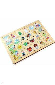 Купить Игра развивающая деревянная Времена года (00741), Десятое королевство, Обучающие игры-пазлы