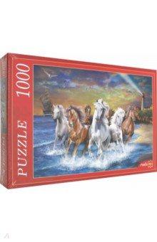 "Puzzle-1000 ""ТАБУН ЛОШАДЕЙ У МОРЯ"" (Х1000-7357)"