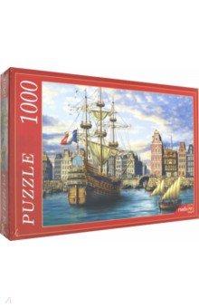 Купить Puzzle-1000 СТАРЫЙ ПОРТ (Ф1000-6814), Рыжий Кот, Пазлы (1000 элементов)