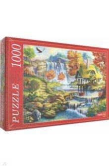 Купить Puzzle-1000 ДОМИК У ВОДОПАДА (Ф1000-6796), Рыжий Кот, Пазлы (1000 элементов)