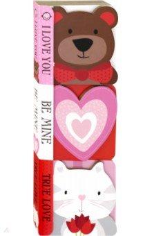 Купить Chunky Set: I Love You (Valentine) 3 board books, Priddy Books, Художественная литература для детей на англ.яз.