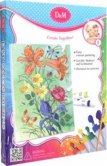Купить Роспись по холсту Букет с лилиями (18х24 см) (33715), D&M, Роспись по ткани