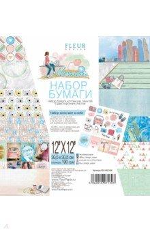 Купить Набор бумаги Мечтай 30х30, 6 листов (FD1007130), Fleur Design, Скрапбук