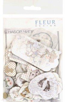 Купить Набор чипборда Наш малыш Мальчик , 26 штук (FD2074012), Fleur Design, Скрапбук