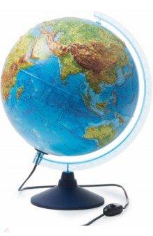 Интерактивный глобус Земли физико-политический (d=320 мм, рельефный, с подсветкой) (INT13200290).