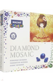 "Алмазная мозаика ""Девочка аниме"" (20х20 см) (M-10301)"