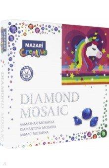Алмазная мозаика ВОЛШЕБНЫЙ ЕДИНОРОГ, 20х20см (M-10331)
