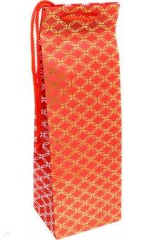 Пакет подарочный ламинированный (красный, 123х362х100 мм) (BPremium 435)