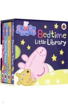Peppa Pig. Bedtime Little Library. 4-board book, Ladybird, Первые книги малыша на английском языке  - купить со скидкой