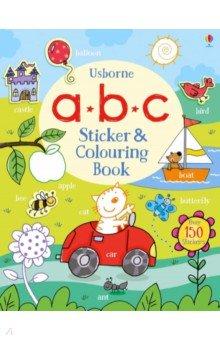 Купить ABC Sticker and Colouring Book, Usborne, Книги для детского досуга на английском языке