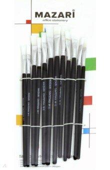 Набор кистей художественных 12 штук, плоские (M-5149)