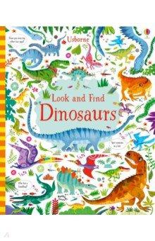 Купить Look and Find. Dinosaurs, Usborne, Первые книги малыша на английском языке