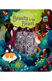 Купить Peep Inside a Fairy Tale. Beauty and the Beast, Usborne, Первые книги малыша на английском языке