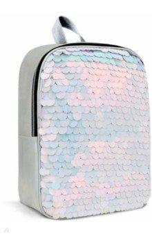 Рюкзак (серебряный, с крупными пайетками) (48826)