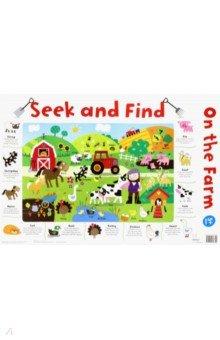 Купить Seek and Find: On the Farm (laminated, 520x760mm), Igloo Books, Первые книги малыша на английском языке