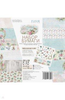 Купить Набор двусторонней бумаги Дыхание весны (20х20 см, 12 листов) (FD1007820), Fleur Design, Скрапбук