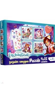 Купить Enchantimals. Полиптих 4х25 Лесные подружки (04823), Оригами, Наборы пазлов