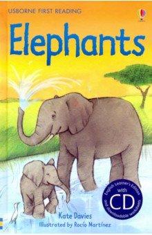 Купить Elephants (+CD), Usborne, Художественная литература для детей на англ.яз.