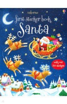 Купить First Sticker Book: Santa, Usborne, Книги для детского досуга на английском языке