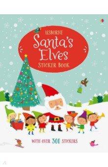 Купить Santa's Elves Sticker Book, Usborne, Книги для детского досуга на английском языке