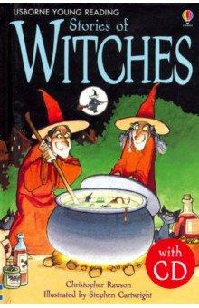 Купить Stories of Witches (+CD), Usborne, Художественная литература для детей на англ.яз.