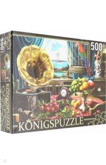 Купить Puzzle-500 Натюрморт с граммофоном (ХК500-6312), Konigspuzzle, Пазлы (400-600 элементов)