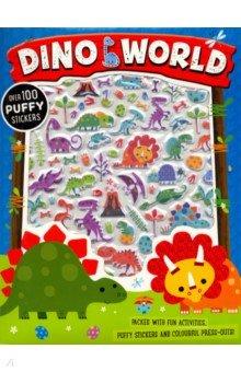 Купить Dino World Puffy Sticker Activity Book, Make Believe Ideas, Книги для детского досуга на английском языке