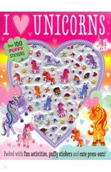 Купить I Love Unicorns Puffy Sticker Activity Book, Make Believe Ideas, Книги для детского досуга на английском языке