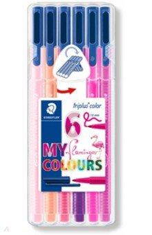 """Фломастеры """"Triplus Color. Фламинго"""", 6 цветов (323SB6CS6)"""