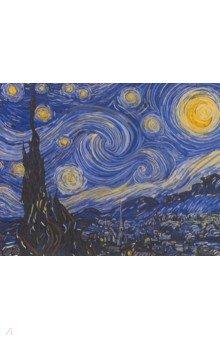 Купить Рисование по номерам по дереву Звездная ночь (40х50 см) (FLA014), Русская живопись, Создаем и раскрашиваем картину