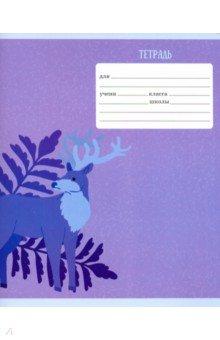 """Тетрадь школьная """"Лесные жители"""" (24 листа, А5, линия, в ассортименте) (ТЛ246364)"""