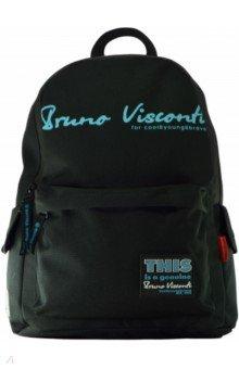 Купить Рюкзак молодежный Original (черный с бирюзовыми надписями) (12-003/43), Bruno Visconti, Рюкзаки школьные