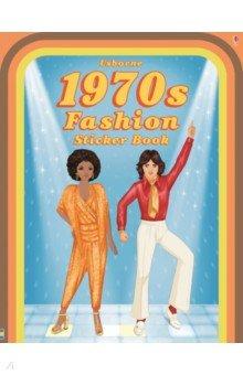 Купить Historical Sticker Dolly Dressing 1970's Fashion, Usborne, Книги для детского досуга на английском языке