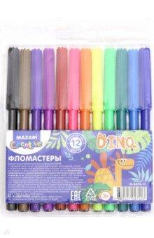 """Фломастеры 12 цветов """"DINO"""" (M-5073-12)"""
