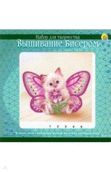 Купить Вышивка бисером 15x15 см Котёнок с крылышкамии (BL167), Рыжий Кот
