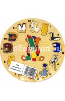 """Развивающая деревянная игра """"Часы-звери"""" (D29А)"""
