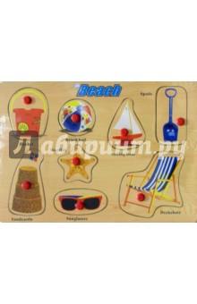 Развивающая деревянная игрушка Beach (пляж) (D151) краснокамская игрушка развивающая пирамидка кольцевая