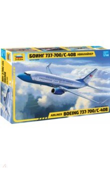 Купить Авиалайнер Боинг 737-700/C-40B 1/44 (7027), Звезда, Пластиковые модели: Авиатехника (1:144)