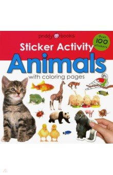 Sticker Activity. Animals with coloring pages