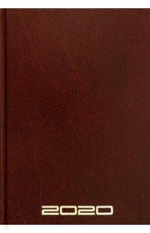 Ежедневник датированный на 2020 год (160 листов, А5, коричневый) (50689)