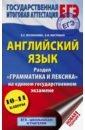 Обложка ЕГЭ Английский язык Раздел Грамматика и лексика