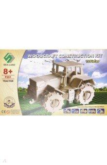Купить Сборная деревянная модель Трактор (P201), ВГА, Сборные 3D модели из дерева неокрашенные макси