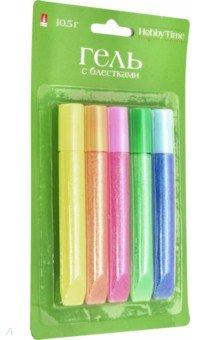 Купить Гель с глиттером для декора Цветовая гамма №7 (5 цветов, 10, 5 г) (2-318/07), Альт, Сопутствующие товары для детского творчества