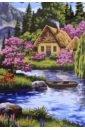 Обложка Рисование по номерам NB008 Дом у воды (30*40)