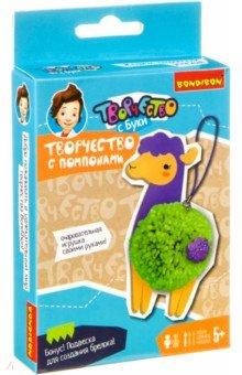 Купить Набор для творчества Творчество с помпонами. Лама (ВВ3949), Bondibon, Изготовление мягкой игрушки