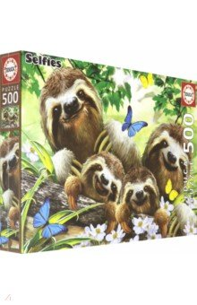 Купить 18450 Пазл 500 Семейное селфи ленивцев, Educa, Пазлы (400-600 элементов)