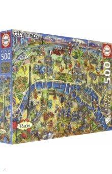 Купить 18452 Пазл 500 Карта Парижа, Educa, Пазлы (400-600 элементов)