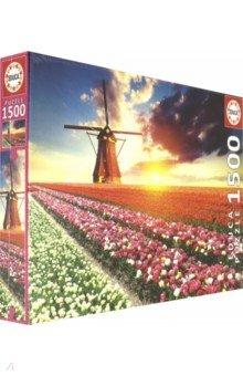 Купить Пазл-1500 Пейзаж, тюльпаны (18465), Educa, Пазлы (1500 элементов)