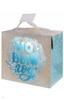 Пакет-коробка подарочный бумажный
